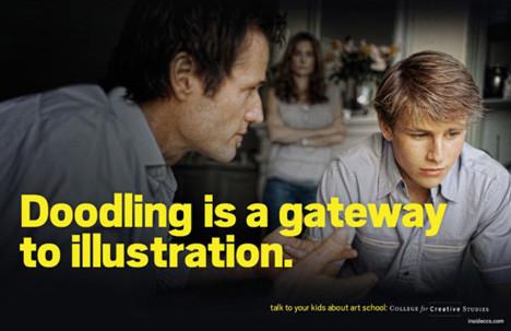 Рекламная кампания об арт-школе с пародией на наркотики. Изображение № 2.