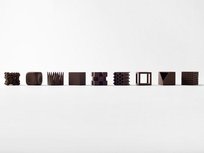 Дизайнеры Nendo разработали шоколад с разными текстурами. Изображение № 2.