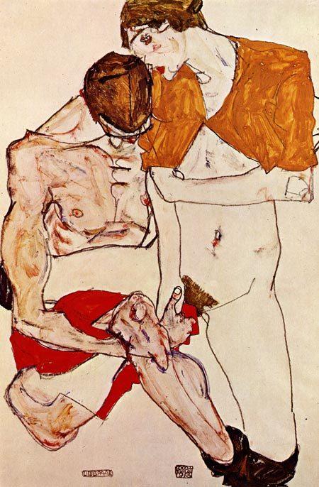 Эгон Шиле. Эротика вискусстве живописи ирисунка. Изображение № 32.