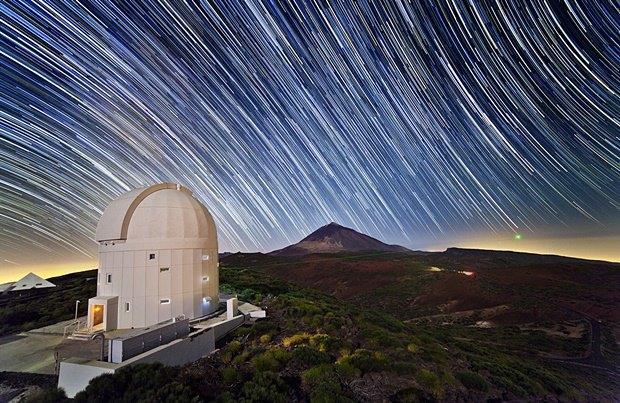 Телескоп в обсерватории Тейде на Канарских островах. Изображение № 26.