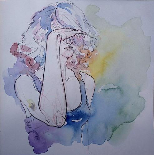 Чувства; карандашом и акварелью. Изображение № 11.
