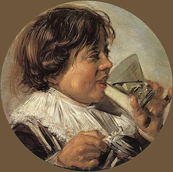 Франс Хальс, Пьющий мальчик. Изображение № 8.