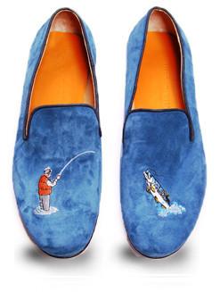 Mario Molinaro - обувь с вышивкой. Изображение № 4.