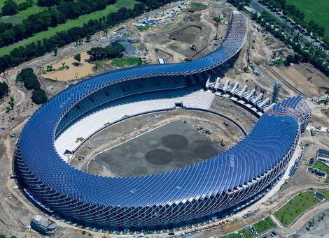 Стадион насолнечных батареях. Изображение № 1.