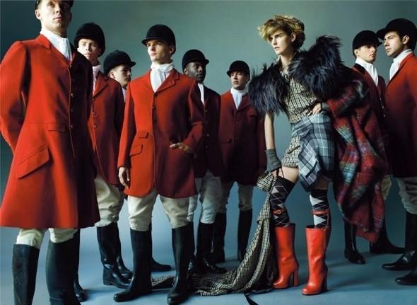 Английский патриотизм воктябрьском Vogue British. Изображение № 5.