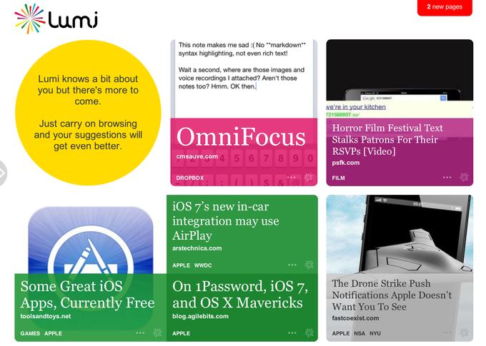 Сооснователи Last.fm запустили новый сервис Lumi.do. Изображение № 1.