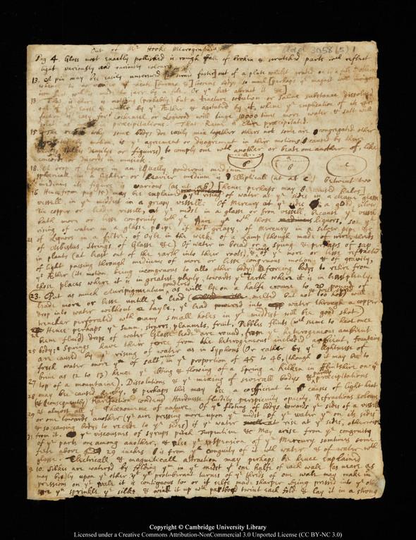 """Черновики Ньютона и первое издание """"Начал"""" выложены в сеть. Изображение № 1."""