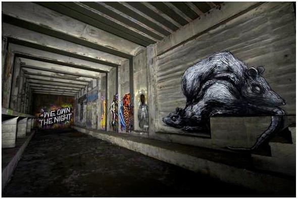 Подземное искусство в Нью-Йорке, светящееся кладбище в Лондоне и другие новости. Изображение № 1.