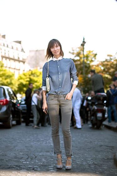Уличный стиль на Неделе высокой моды в Париже. Изображение № 65.