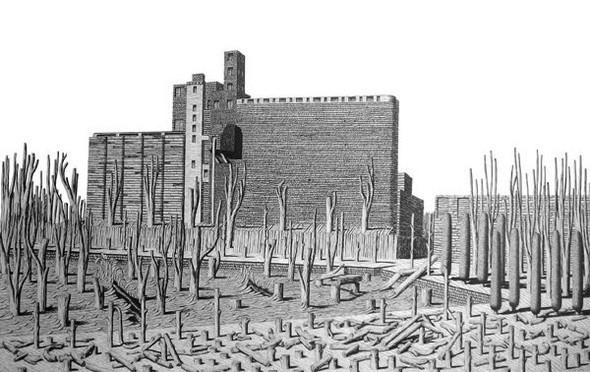 Иллюстрации, похожие на чертежи викторианской эпохи. Изображение № 13.