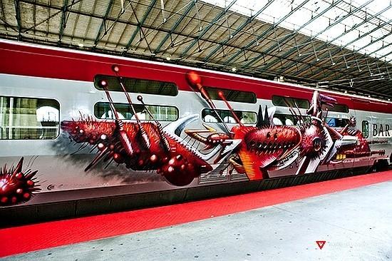 Граффити наскоростном поезде вПариже. Изображение № 4.