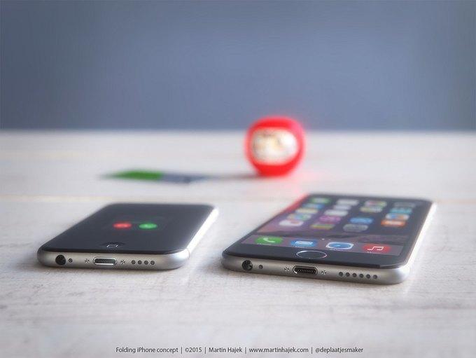 Дизайнер создал концепт раскладного iPhone 6 . Изображение № 7.