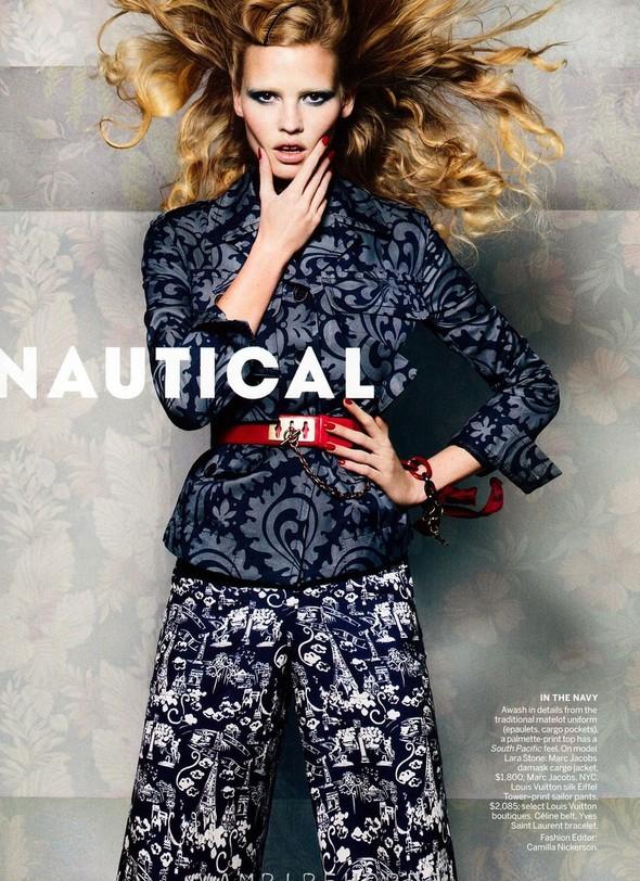 Съёмка: Лара Стоун для американского Vogue. Изображение № 1.