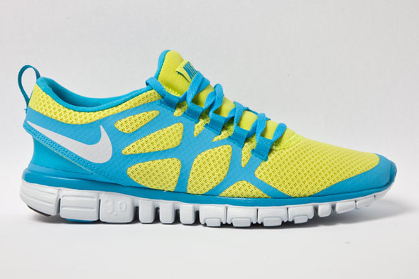 NIKE FREE 3.0 V.3 (LIME/CURRENT). Изображение № 3.