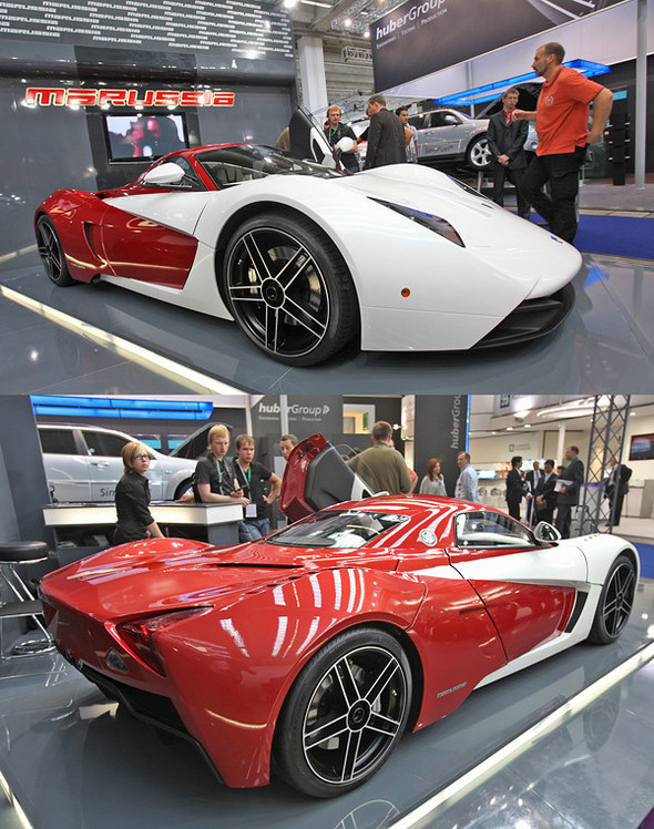 Новая версия суперкара Marussia воФранкфурте. Изображение № 1.