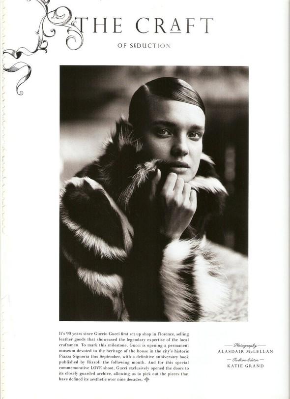 Съёмка: Наталья Водянова в Gucci для Love. Изображение № 1.