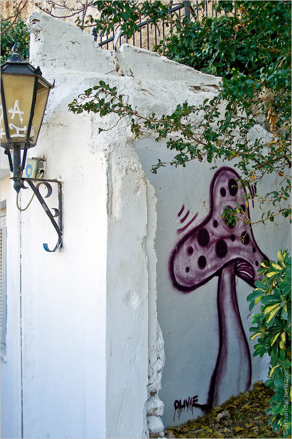 Стрит-арт и граффити Афин, Греция. Часть 2. Изображение № 37.