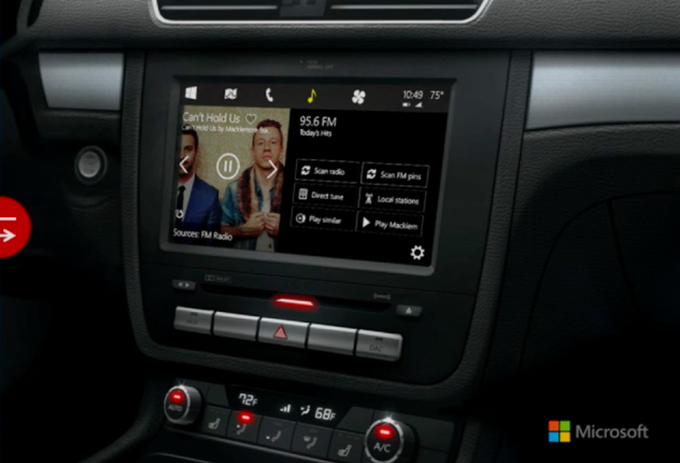Microsoft представила концепцию Windows для автомобиля . Изображение № 1.