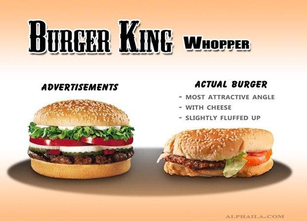 Фотограф сравнил бургеры в рекламе и в реальной жизни. Изображение № 2.