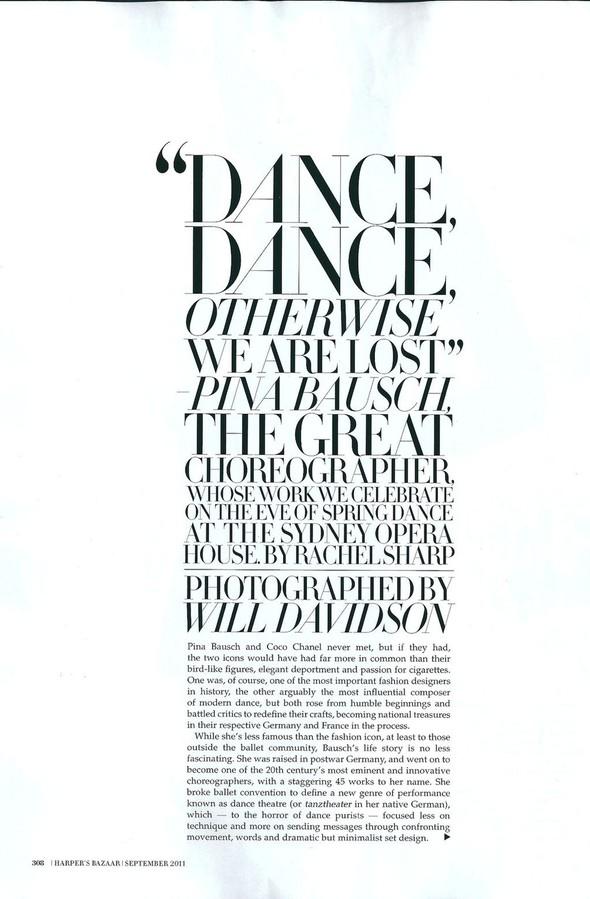 Съёмка: Уилл Дэвидсон для Harper's Bazaar. Изображение № 1.