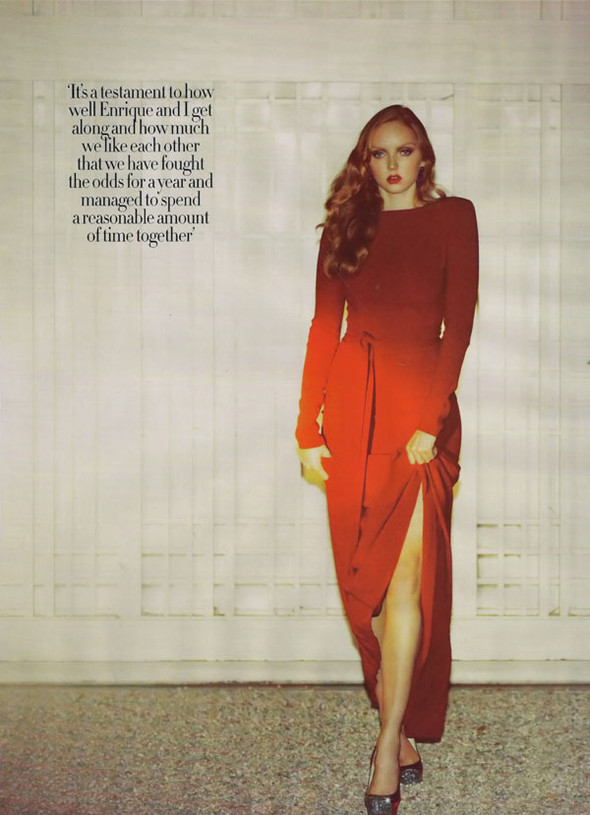 Lily Cole by Guy Aroch for Harpers Bazar UK October. Изображение № 10.
