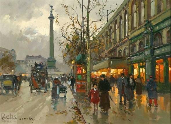 Эдуард Леон Кортес. Перенесёмся в Париж. Изображение № 11.