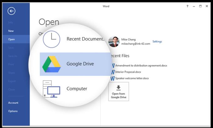 Google Drive интегрировали сMicrosoft Office. Изображение № 1.