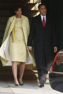 Платье Мишель кинаугурации мужа. Изображение № 4.