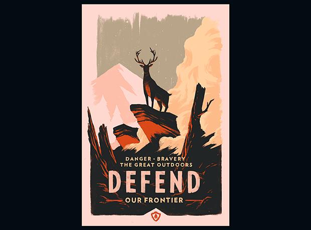 Иллюстратор Олли Мосс нарисовал постеры для игры Firewatch. Изображение № 2.