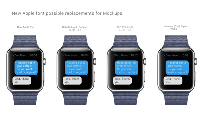 Альтернативные шрифты для Apple Watch. Автор: Hubert Florin. Изображение № 10.
