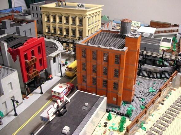 Изображение 3. Улицы Нью-Йорка из конструктора LEGO.. Изображение № 3.