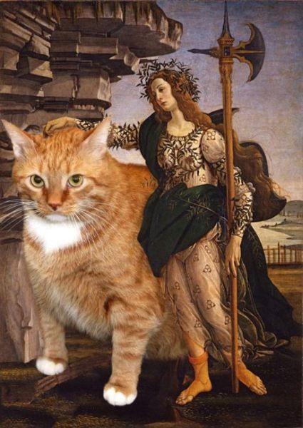 Новый взгляд на полотна великих художников. В главной роли кот. Изображение № 10.