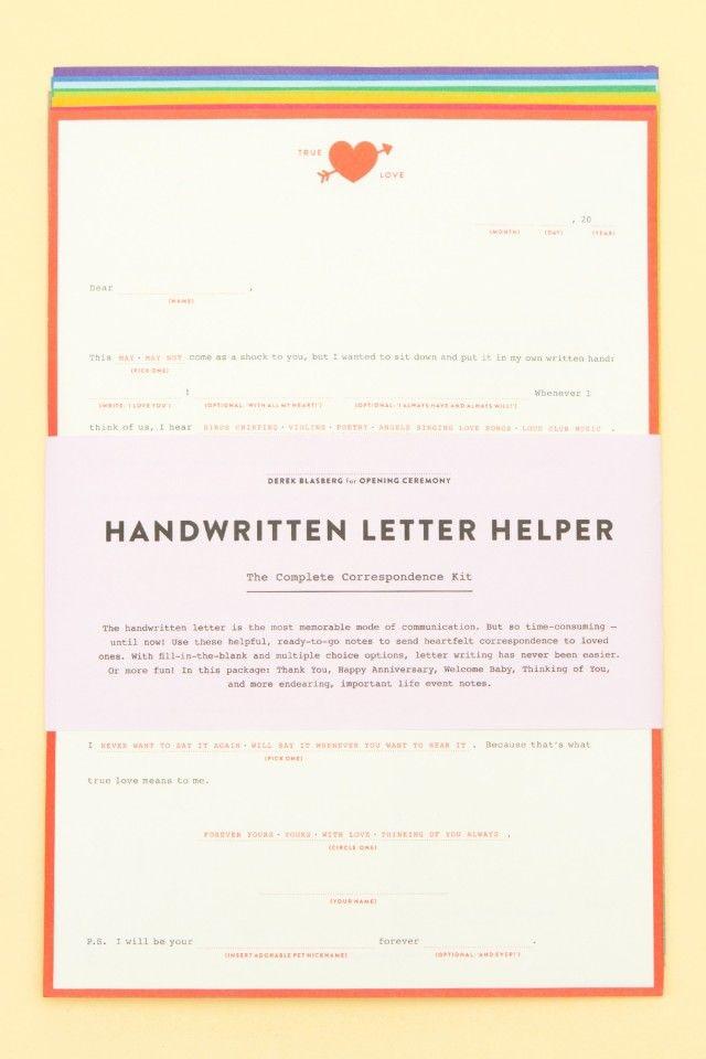 Дерек Бласберг и Opening Ceremony сделали бланки для писем. Изображение № 3.