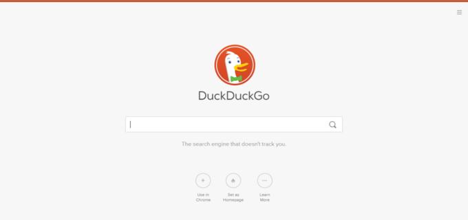 Главная страница DuckDuckGo после редизайна. Изображение № 2.