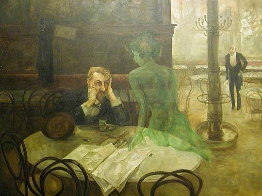 Виктор Олива, Пьющий абсент. Изображение № 15.