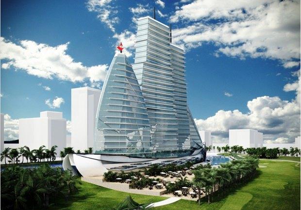 Российский архитектор показал больницу-небоскрёб в виде яхты. Изображение № 8.