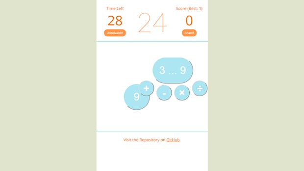 Ссылка дня: получите 24 за минуту с помощью 4 чисел и 4 действий. Изображение № 4.