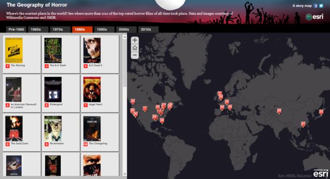 Создана интерактивная карта хорроров. Изображение № 2.