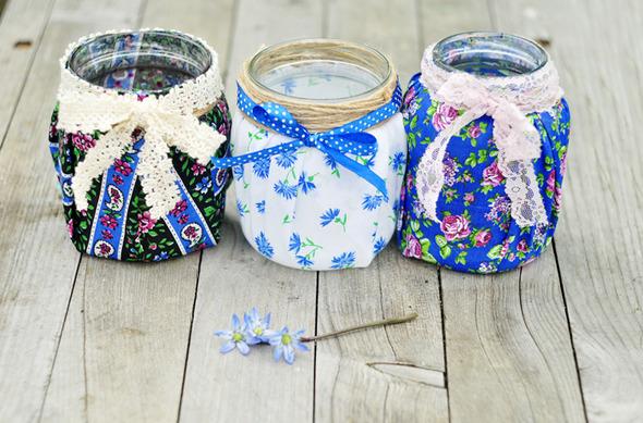 Симпатичные баночки-вазочки-подсвечники.. Изображение № 1.