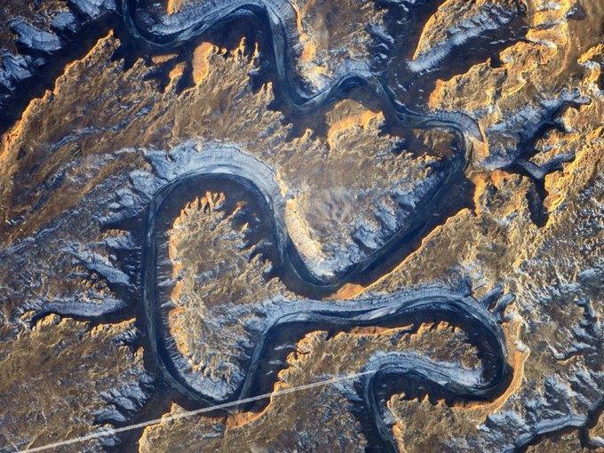Грин-ривер, штат Юта. Фото астронавтов МКС. Изображение № 4.