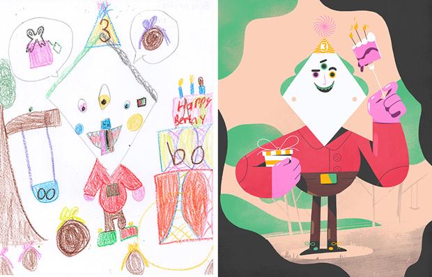 Художники создали монстров наоснове детских рисунков. Изображение № 31.