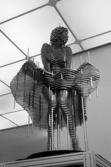 """Скульптуры из """"ломтиков"""" металла. Park Chan Girl. Изображение № 3."""