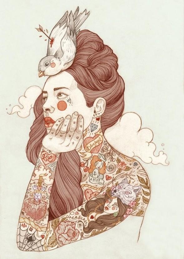 Карандашные рисунки художницы из Лондона Liz Clements.. Изображение № 1.