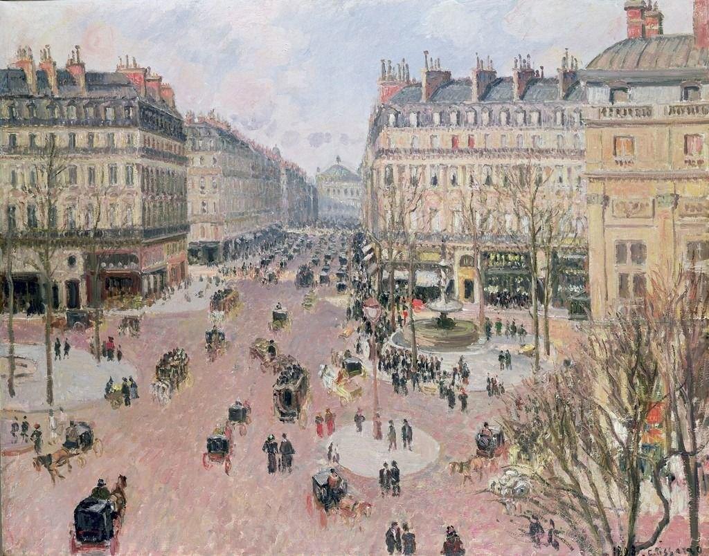 Авеню Опера,Камиль Писсаро, 1898. Изображение № 13.