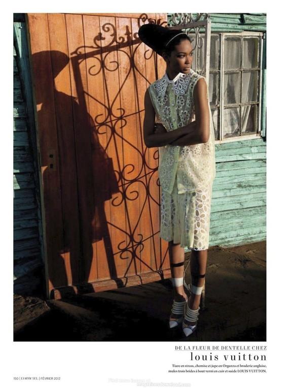 Съёмка: Шанель Иман для L'Officiel. Изображение № 9.