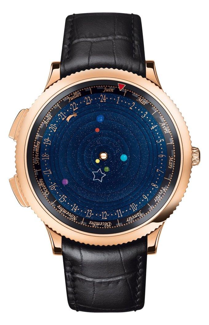 Часы Planetarium показывают движение Солнечной системы. Изображение № 1.