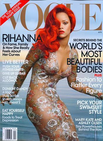 Певица Рианна на обложке американского Vogue, апрель 2011. Изображение № 44.