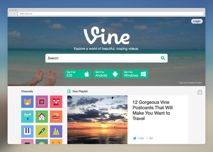 Веб-версия Vine стала полноценным видеохостингом. Изображение № 1.