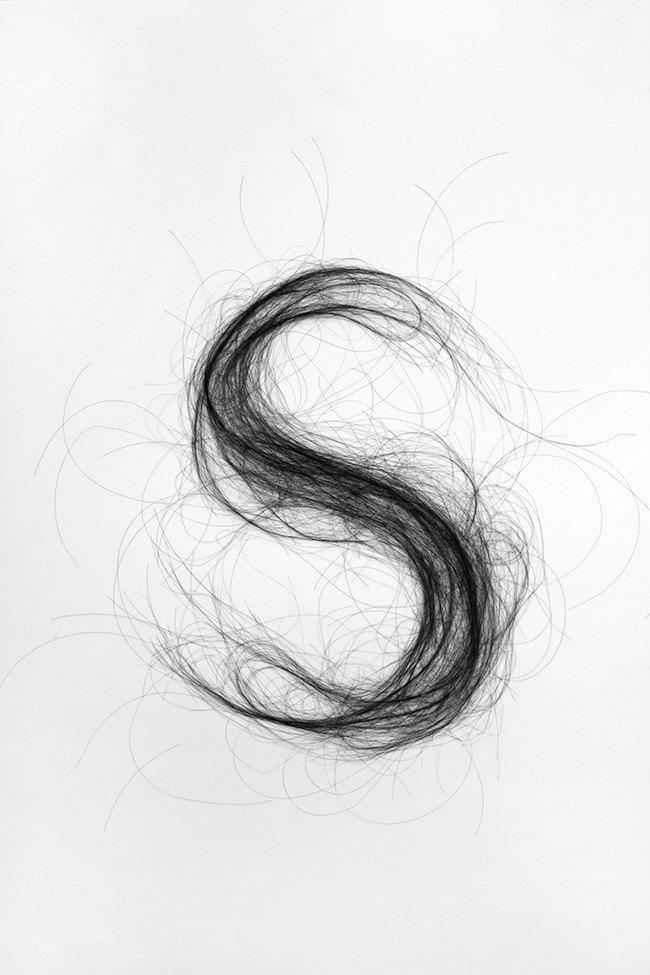 Дизайнер создала шрифт из человеческих волос. Изображение № 3.