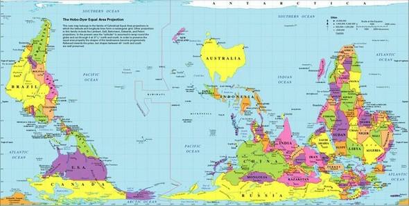 Карта мира с точки зрения Америки, Австралии, ЮАР и Франции. Изображение № 4.